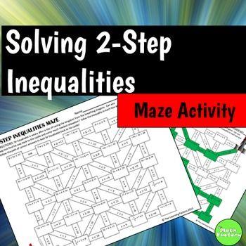 Two Step Inequalities Maze Activity