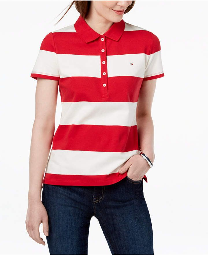 1c103e22 Tommy Hilfiger Striped Pique Polo Shirt in 2019 | Products | Pique ...