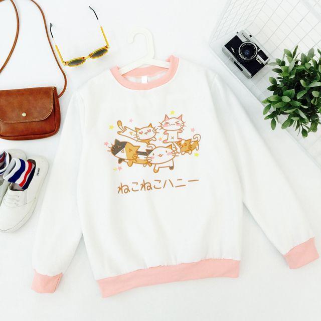 501891f57 Cute Things on the INTERNET Harajuku cute cat loose sweatshirt · Cute  Kawaii {harajuku fashion} · Online Store Powered by Storenvy visit ...