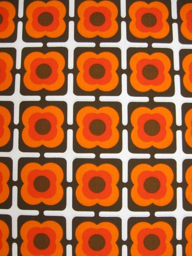 70er Baumwollstoff Bild 1 Retro Muster Stoff Bedrucken Stoffe
