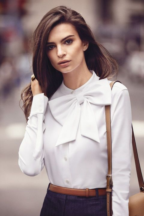 Actress Emily Ratajkowski straight from the pages of BAZAAR. Click through to see the stunning shoot: - women's sheer blouses, black long blouse, white blouse dress *sponsored https://www.pinterest.com/blouses_blouse/ https://www.pinterest.com/explore/blouse/ https://www.pinterest.com/blouses_blouse/low-cut-blouse/ http://www.wetseal.com/tops-shirts-blouses/