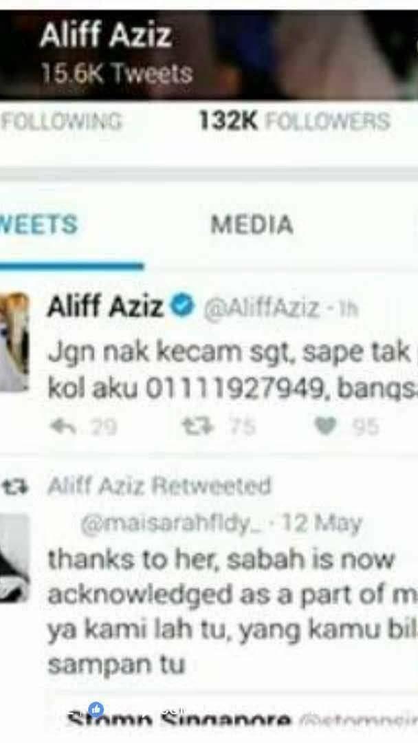 Aliff Aziz Bagi No Telefon Kepada Pembencinya Tapi Kah Kah
