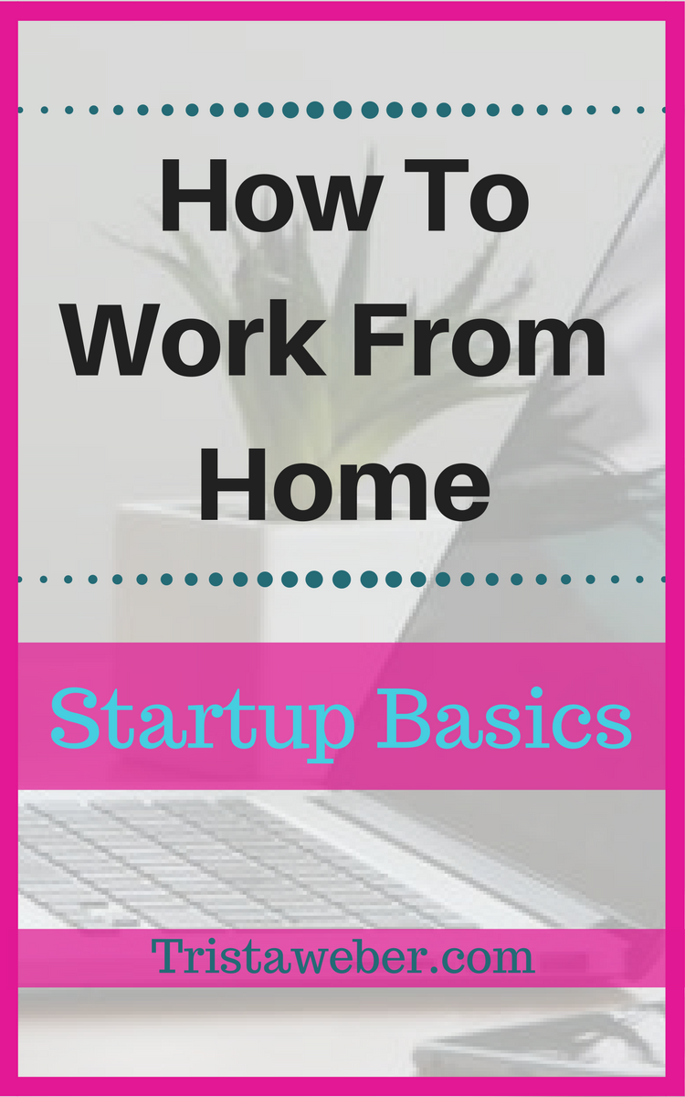 How To Work From Home: Startup Basics | Online business