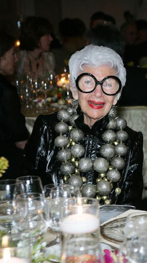 IT GIRL: IRIS APFEL...I love this pic so much I can hardly stand it! She is amazing.