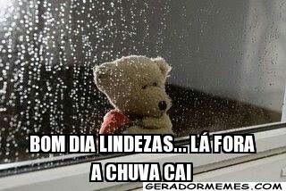 Bom dia com chuva!