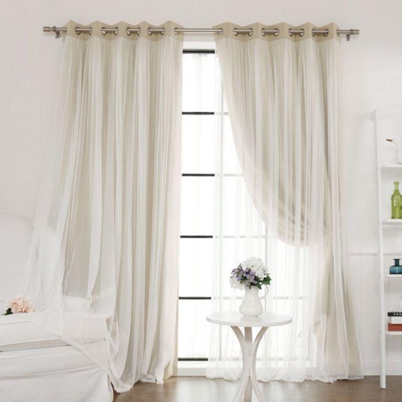Stylish Farmhouse Living Room Curtains Ideas 36