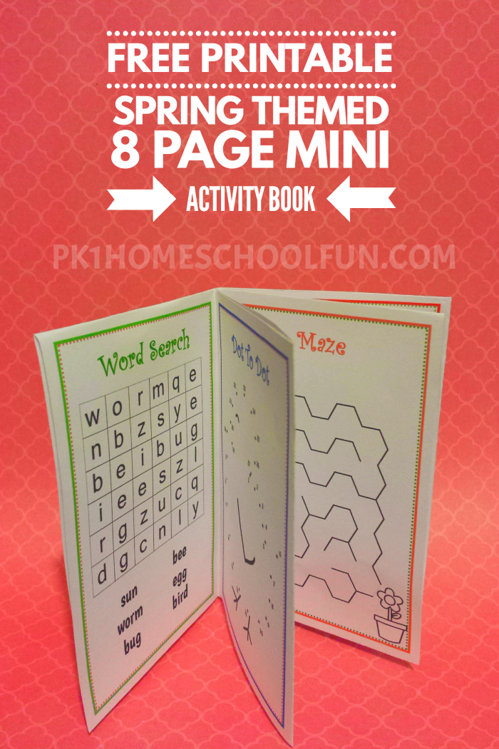 Free Printable Spring Activity (Mini) Book | Homeschool Printables ...