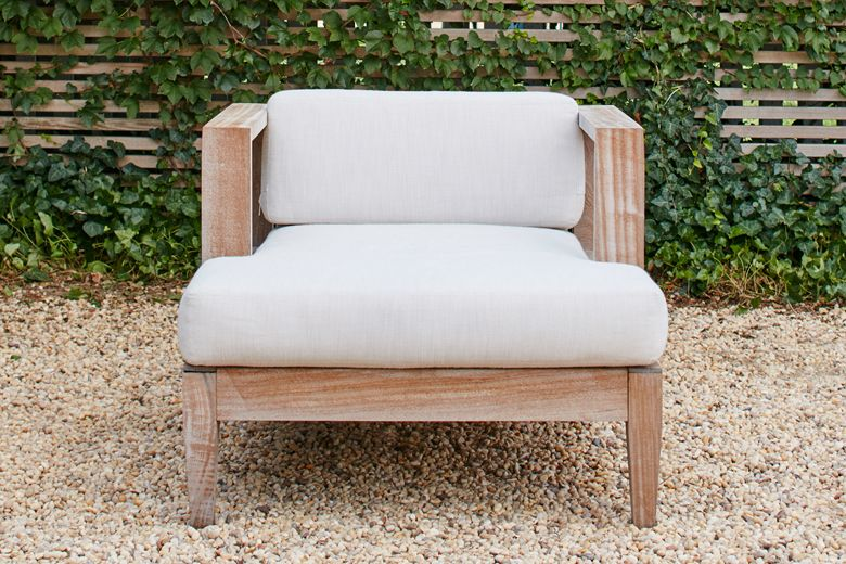 Exceptionnel Homenature   Sapele Wood Outdoor Club Chair