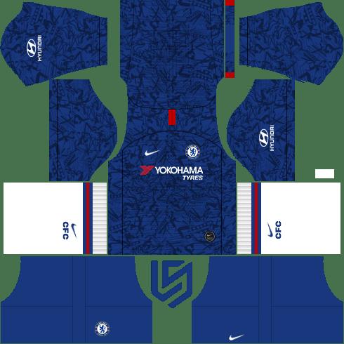 Kit Chelsea Home Dls Dream League Soccer 2019 2020 Soccer Chelsea Logo Chelsea