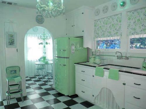 vintage kitchen Perfect Rockabilly Home Pinterest 50er jahre