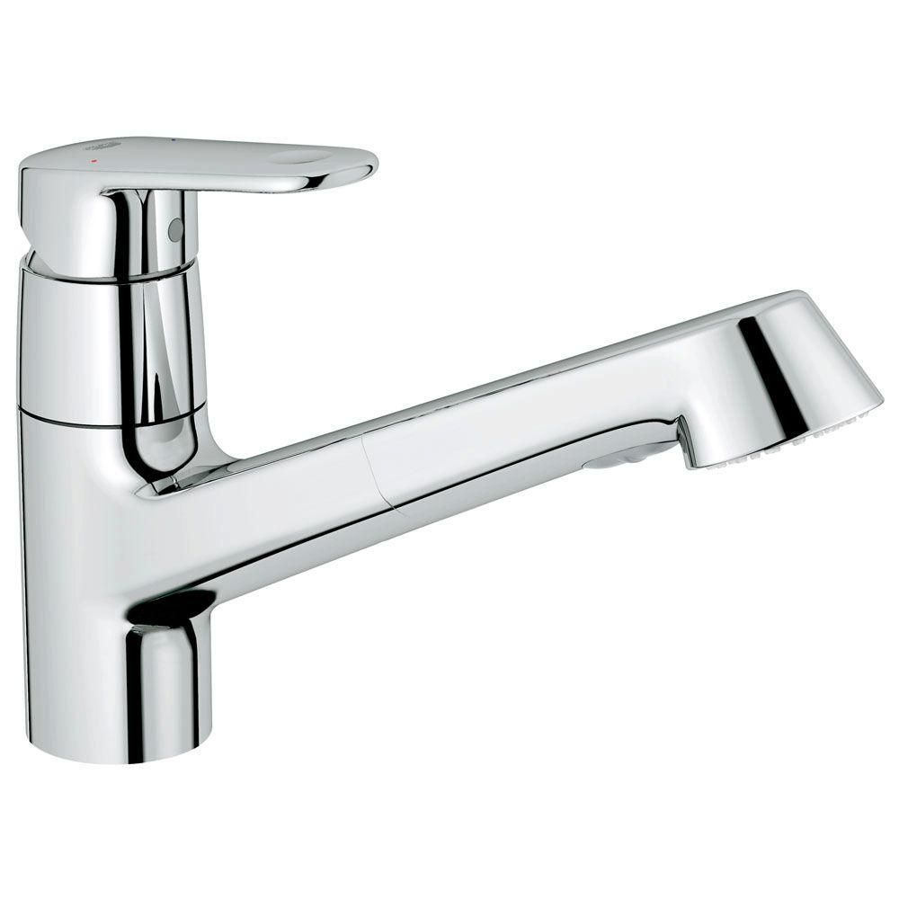 Grohe europlus new singlehandle pullout sprayer kitchen faucet in