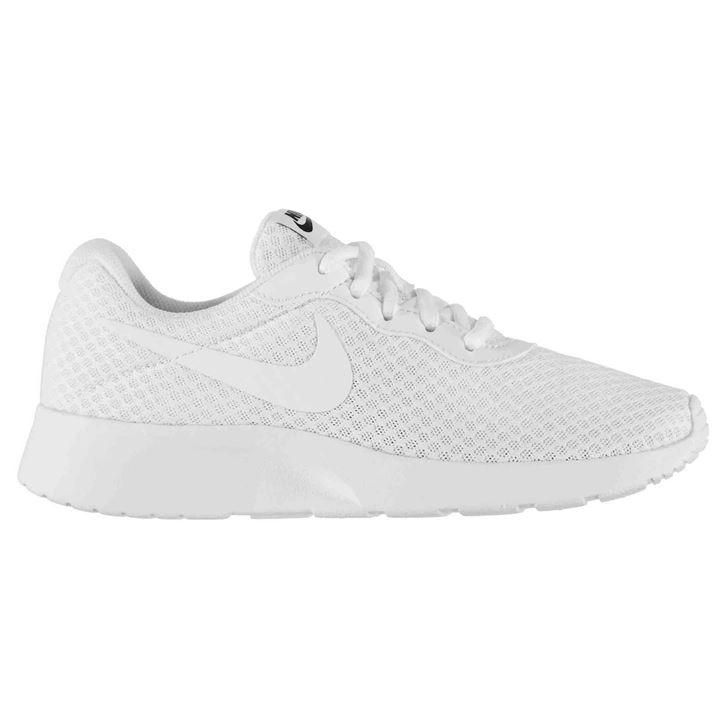 nike tanjun slip on ladies trainers white
