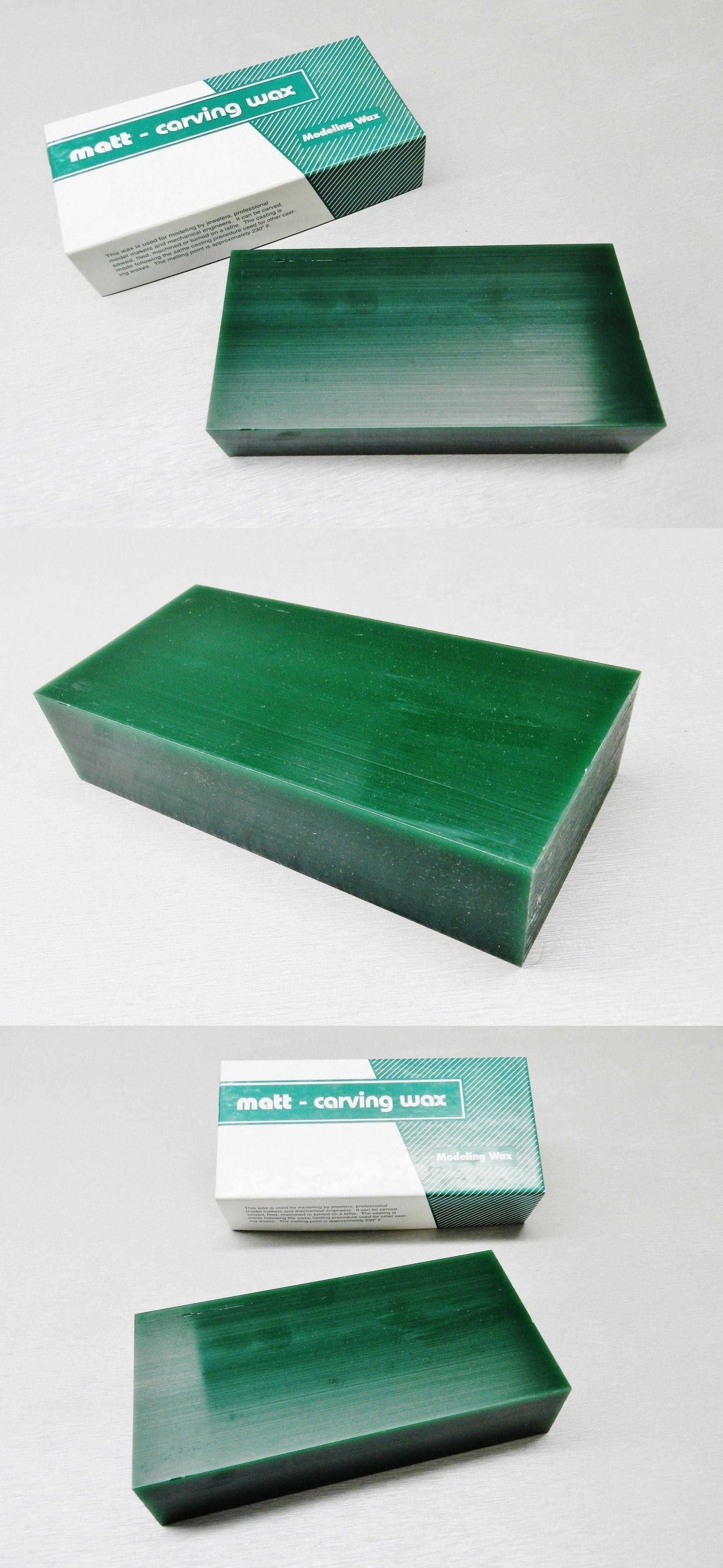 Casting Tools 179254: Matt Carving Wax Block Green 1 Pound
