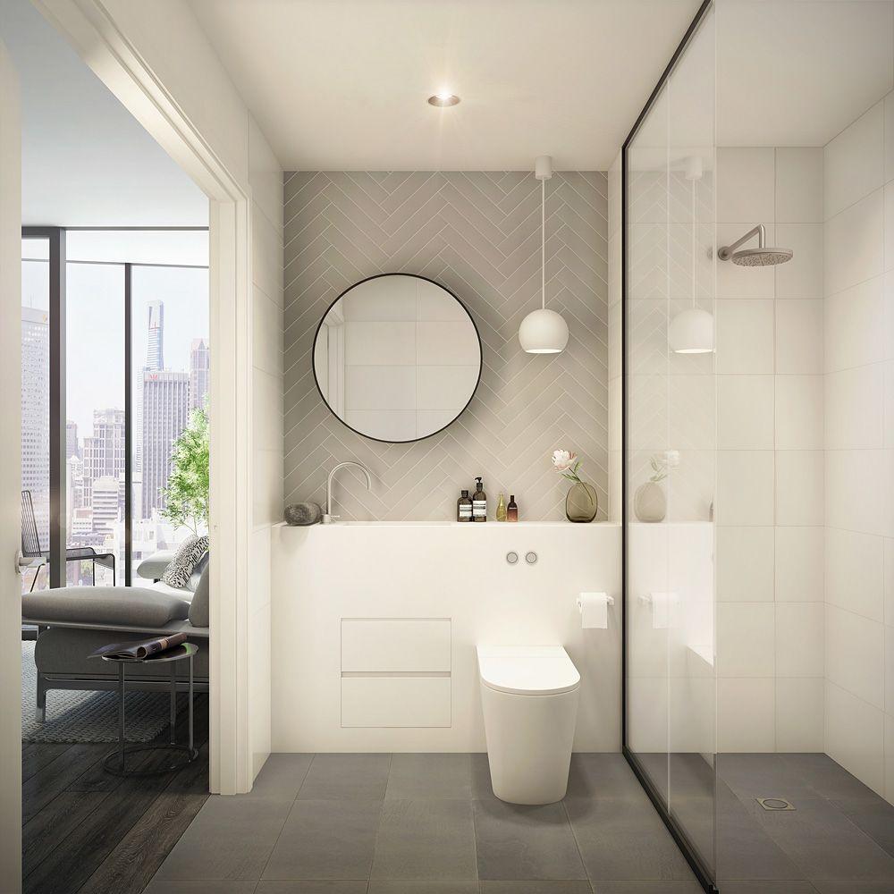 EQ Tower Melbourne - bathroom vision | Elenberg Fraser | Pinterest ...