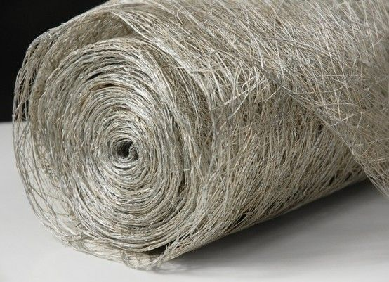 Nice For Table Runners. About Three Tables Per Roll Abaca Fiber Metallic Silver  Roll Natural X 10 Yards