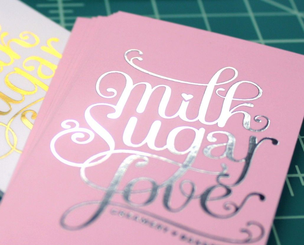Ultra thick business cards for Milk Sugar Love | We were super ...