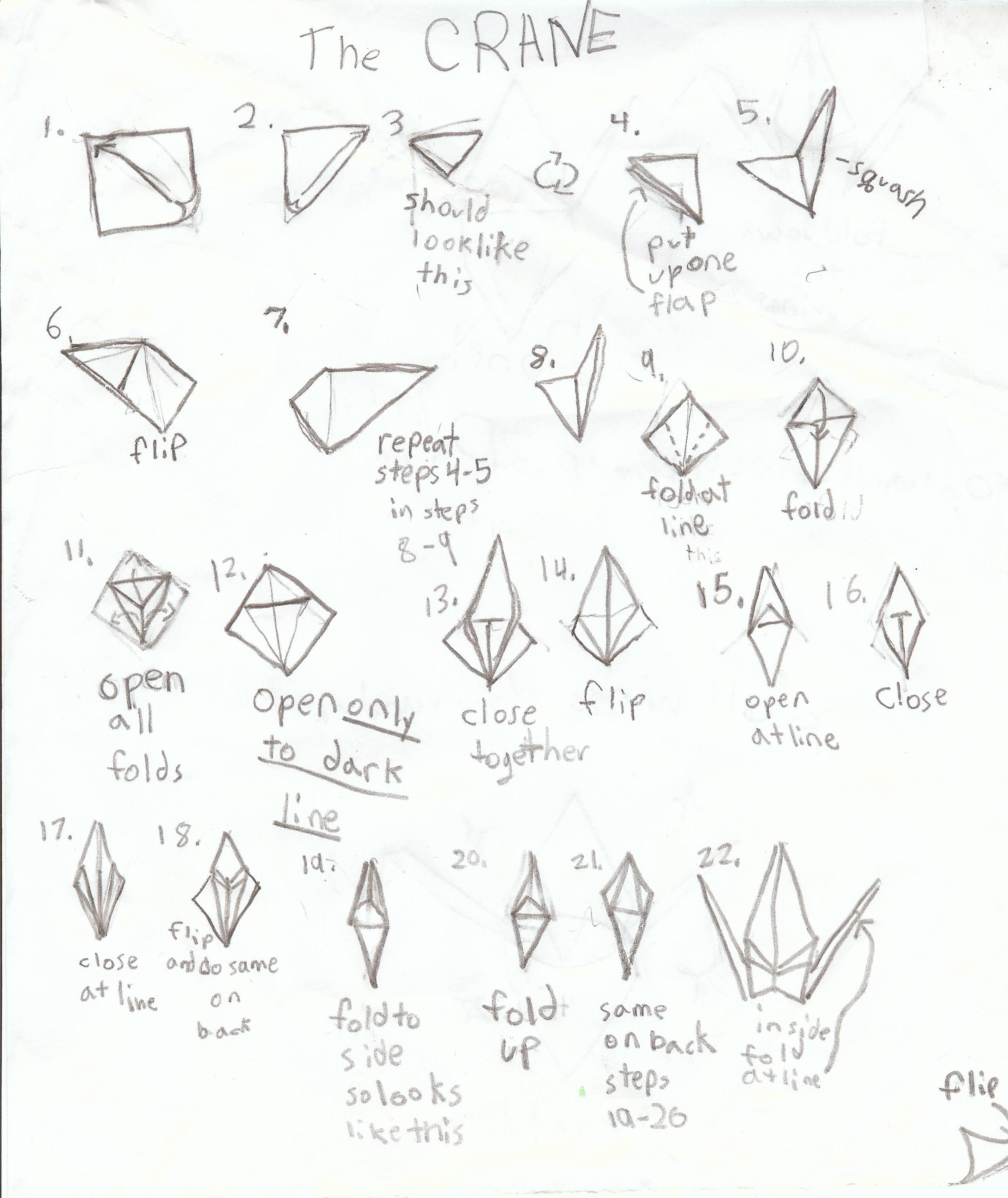 25 Origami Crane Step By Step Instructions Coloring Pages