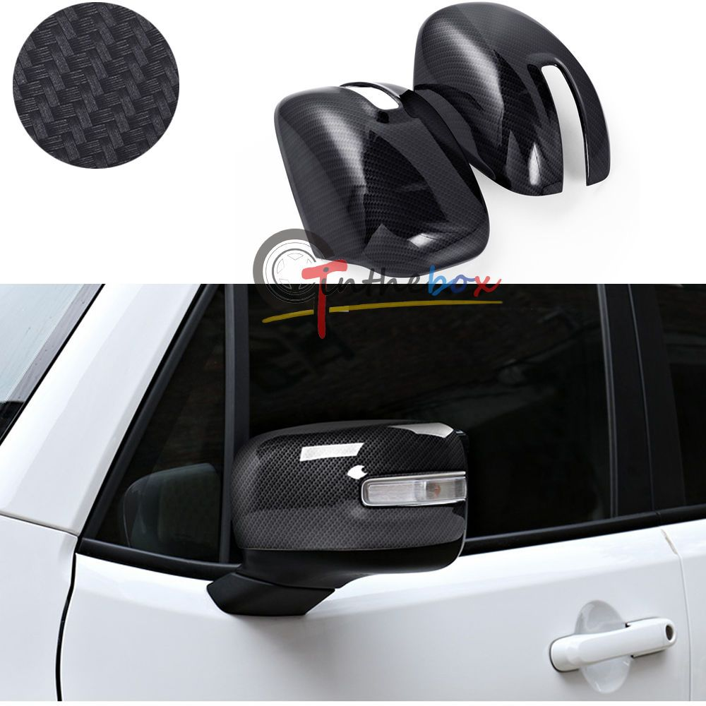 Carbon Fiber Style Side Mirror Rearview Trim Covers For Jeep