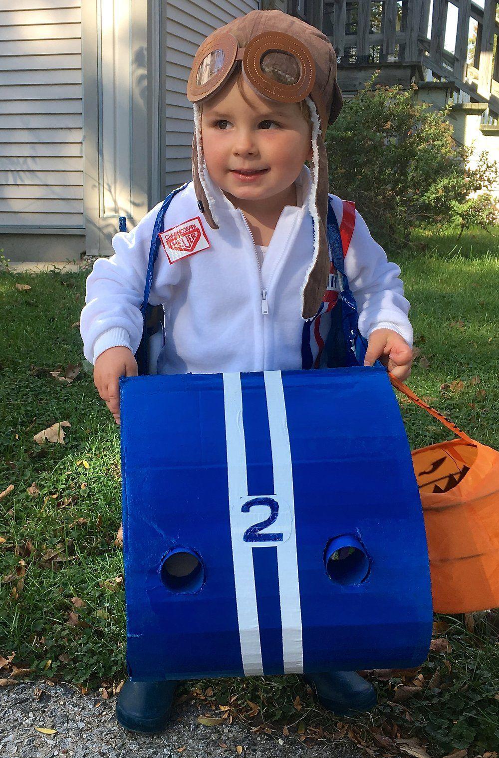 diy vintage race car driver halloween costume for kids