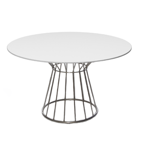 Wire Dining Table White Top Funky Furniture Hire Would
