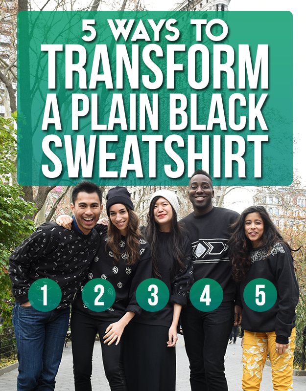 5 Ways To Transform A Plain Black Sweatshirt