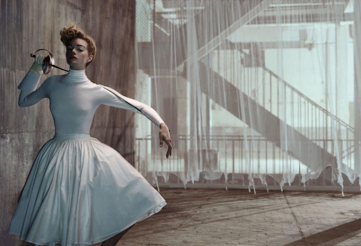 Javier Vallhonrat - Photographers - Fashion - Vogue Germany Fencing | Michele Filomeno