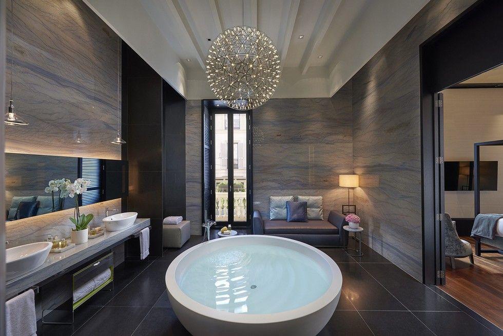 Mandarin Oriental Milan Opening The New Milan Luxury Hotel Bathroom Interior Design Hotel Interior Design Luxury Bathroom