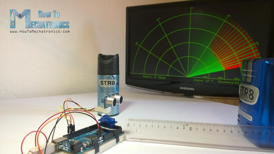 This is a demo video of the Arduino Radar Project  The Radar uses an