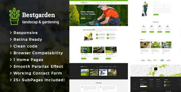 Bestgarden - Gardening and Landscaping HTML Template   Landscaping on garden park logos, garden club logos, garden logos design, garden nursery logos,