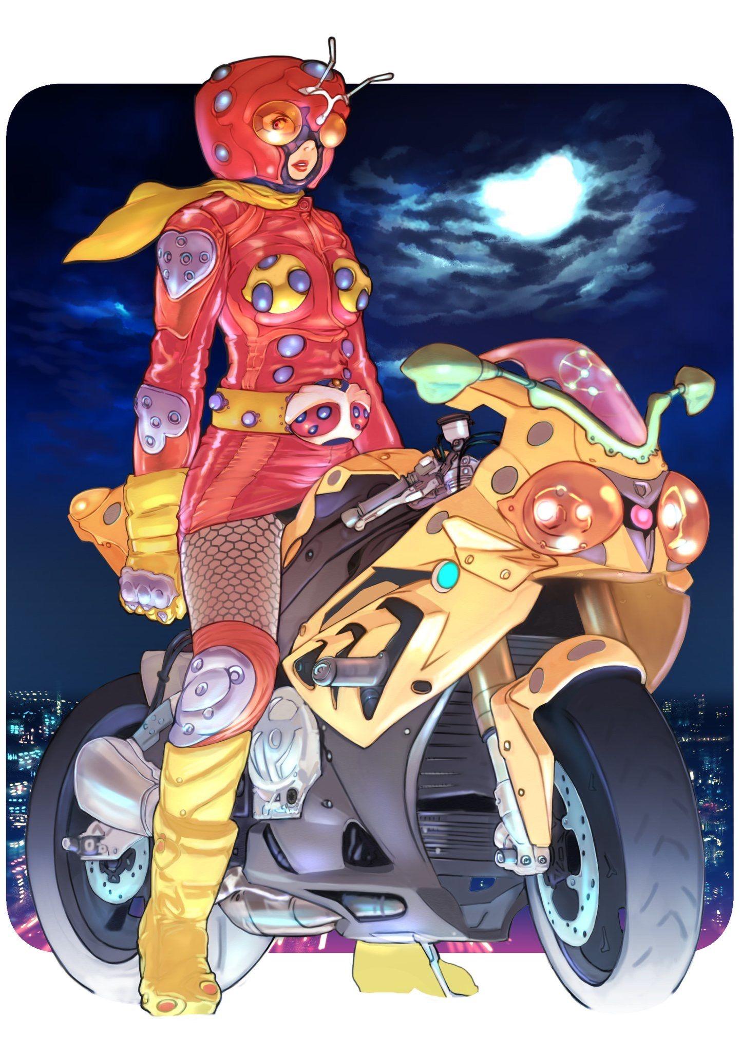 Pin by Thairandy on コミックガールズ Anime, Kamen rider, Art