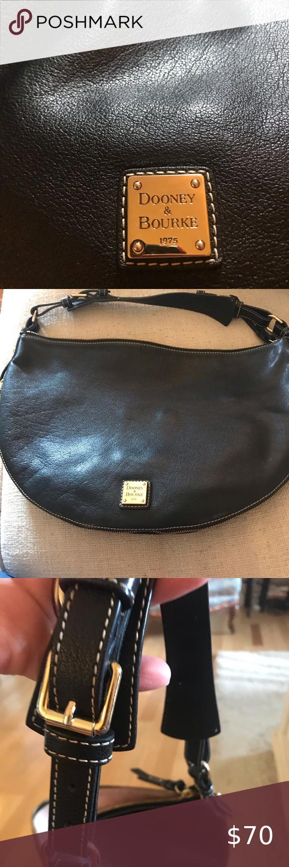 Black Leather Dooney Bourke Shoulder