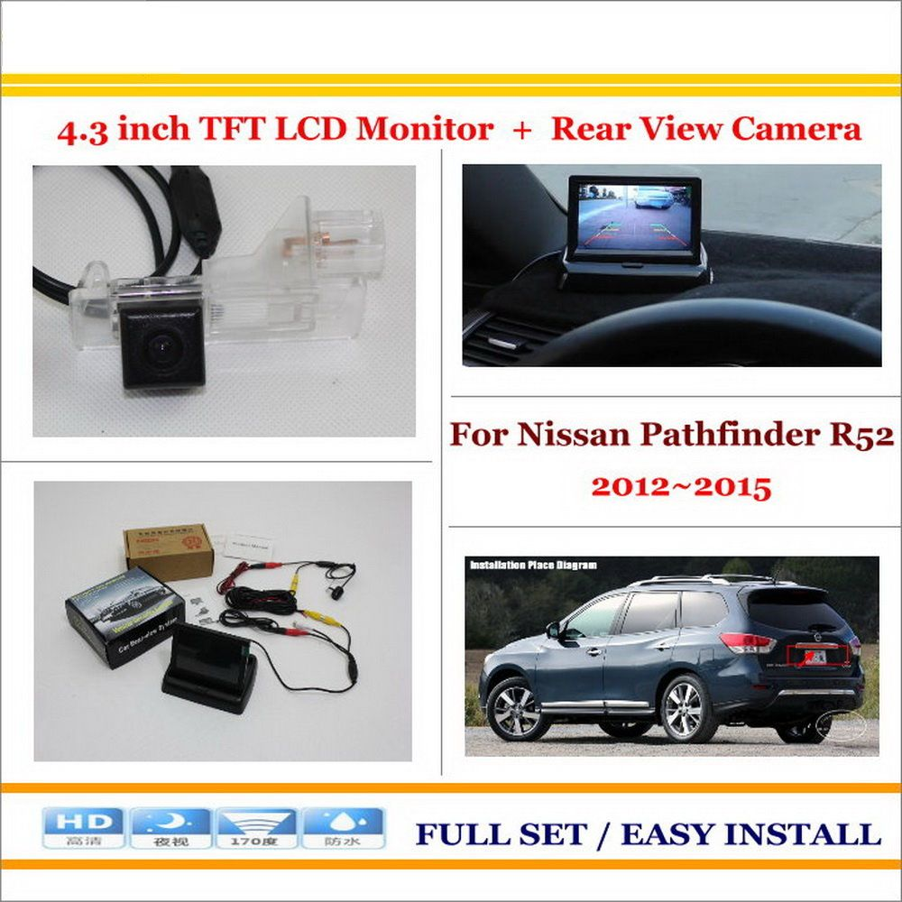 For Nissan Pathfinder R52 2012 2015 Car Parking Camera 4 3 Lcd Monitor Ntsc Pal 2 In 1 Parking Rearview Car Parking Camera Rear View Camera Lcd Monitor