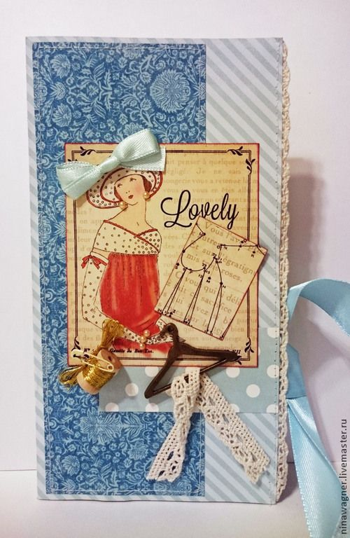 Купить Открытка ручной работы - голубой, Открытка ручной работы, открытка на день рождения