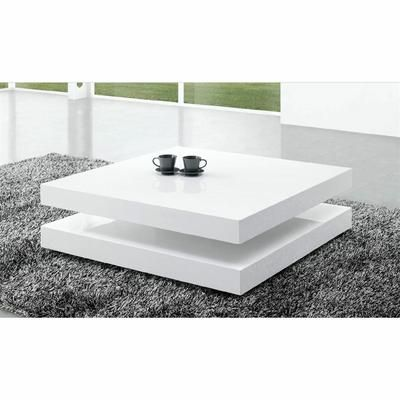 table basse laquee blanc charlene