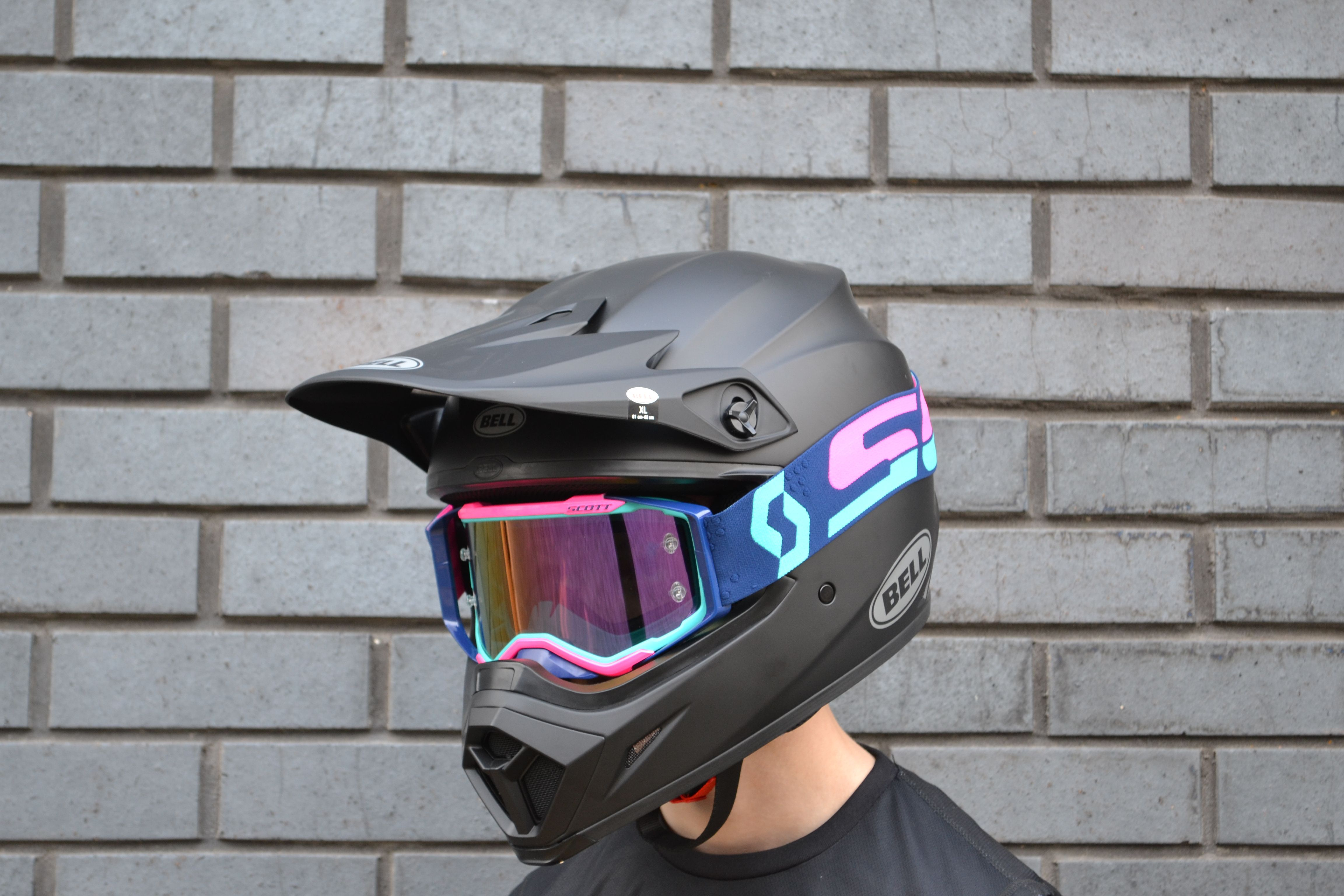 2018 Scott Prospect Goggles Teal Pink Purple Chrome Motocross