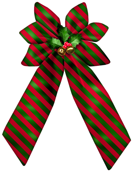 Christmas striped bow png clipart imágenes navidad