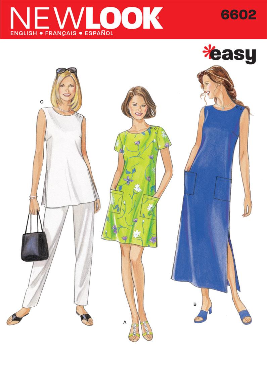 NL6602 Misses Dress   Easy   Pinterest   Batas de mujer, Limpieza y Mamá