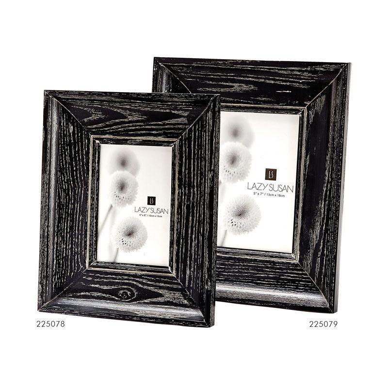 Lazy Susan 225079 Cerused Black Convex Frame - 5 X 7 | Pinterest ...