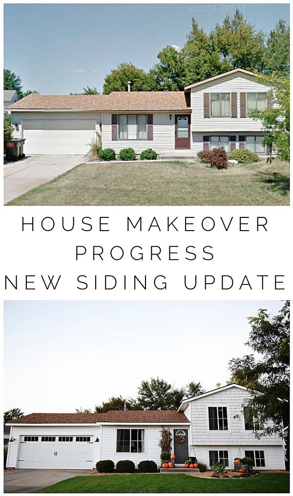 Michigan House Makeover: New Siding Before & After | Liz Marie Blog on 70s style house plans, 1980s split-level floor plans, 1980s style house plans, split ranch addition plans, 1980s contemporary house plans, tri-level floor plans, split-level ranch house plans,
