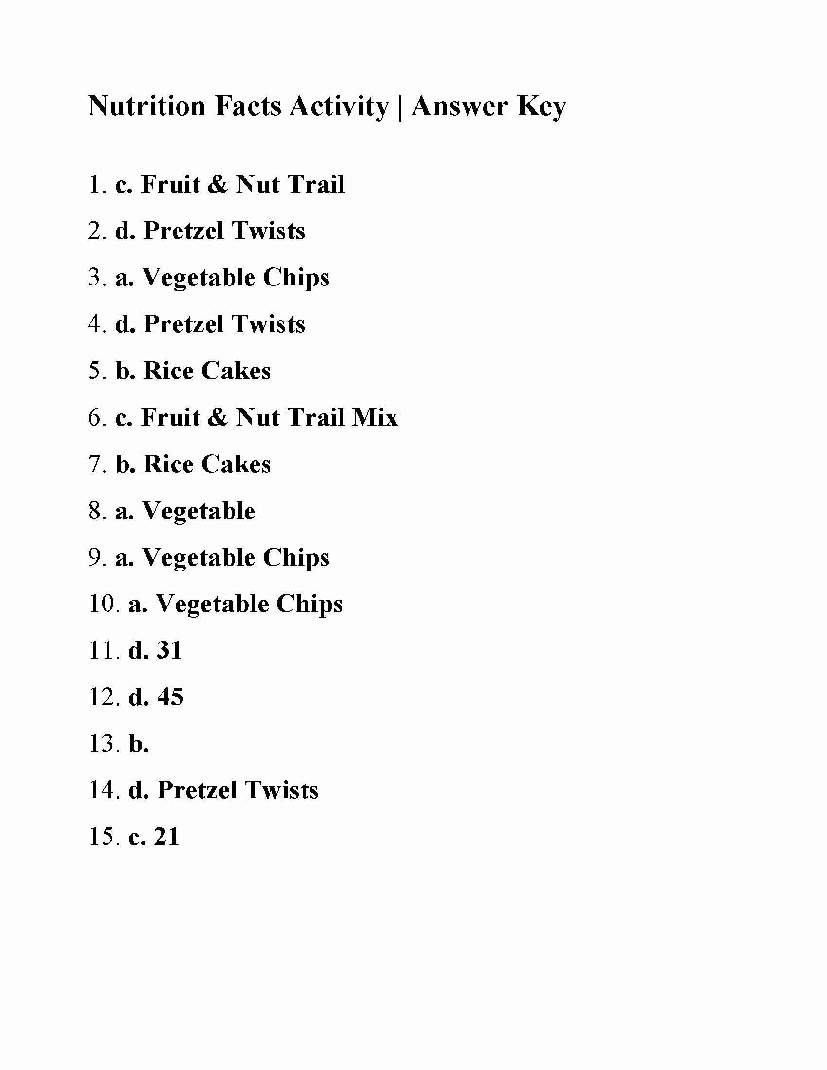 Nutrition Label Worksheet Answer Key Elegant Nutrition Reading Prehension Worksheets In 2020 Persuasive Writing Prompts Chemistry Worksheets Kids Worksheets Printables