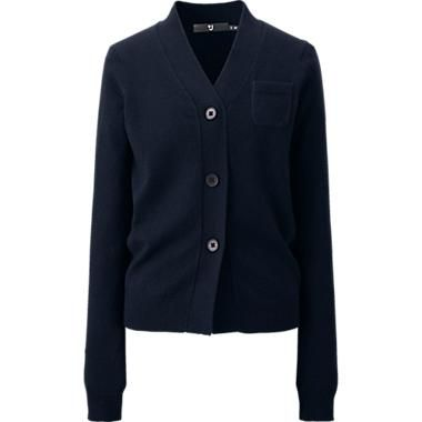 Uniqlo WOMEN (+J) STRETCH CASHMERE V NECK CARDIGAN