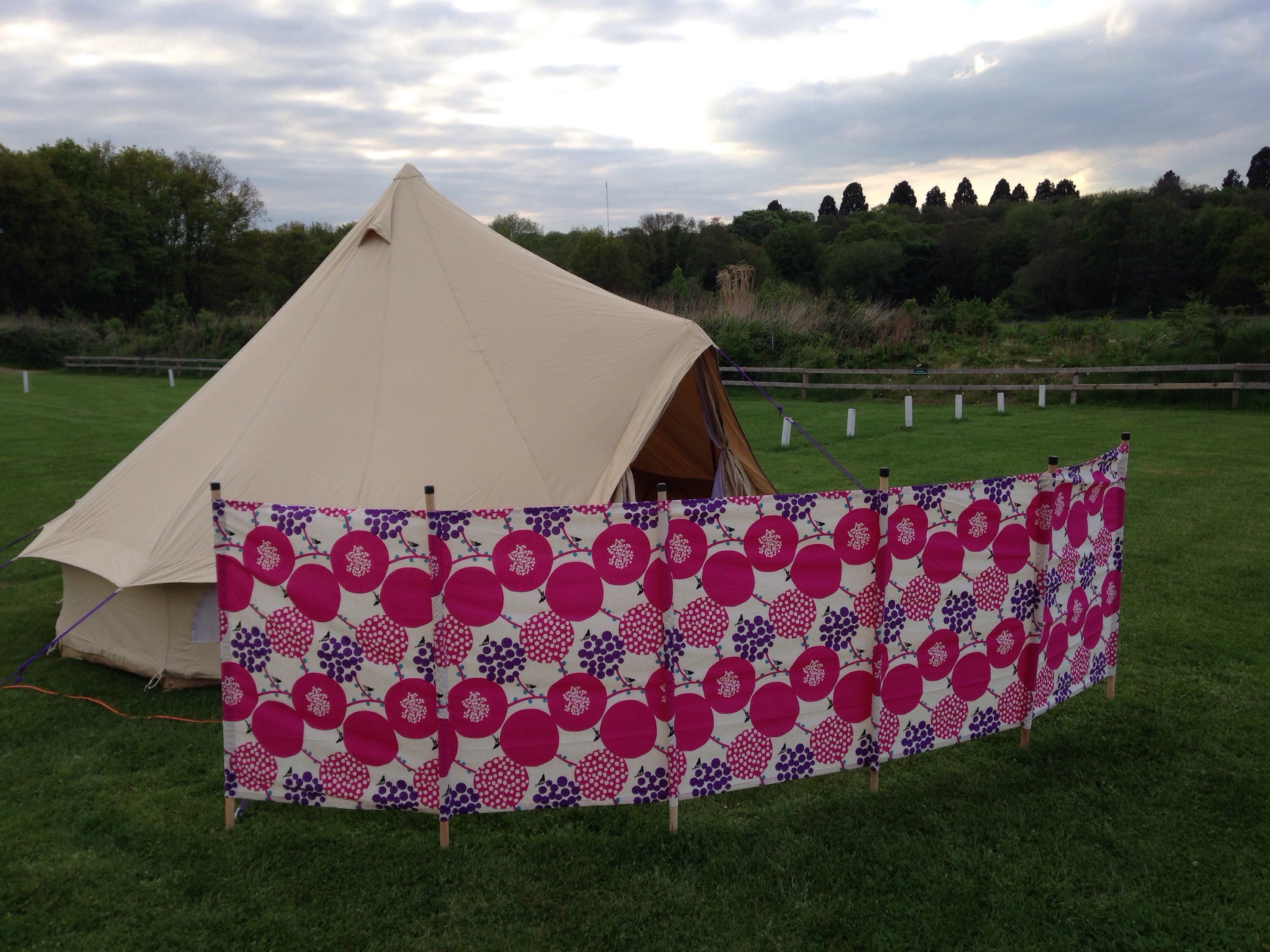 Homemade Cute Cotton Windbreak Boutique Camping Canvas Tent Camping Bell Tent Camping