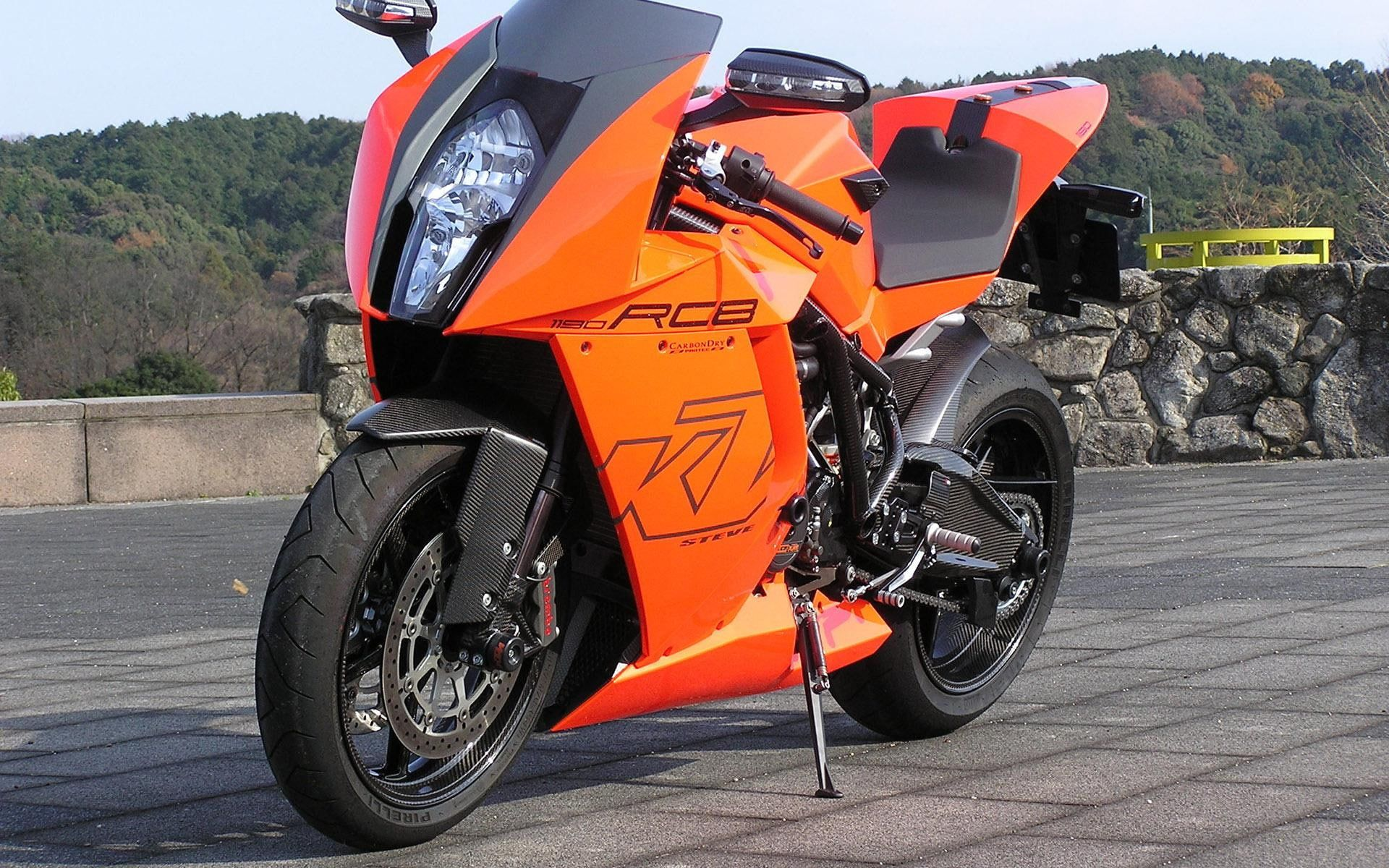 KTM 1190 RC8, orange and black ktm rcb motorcycles