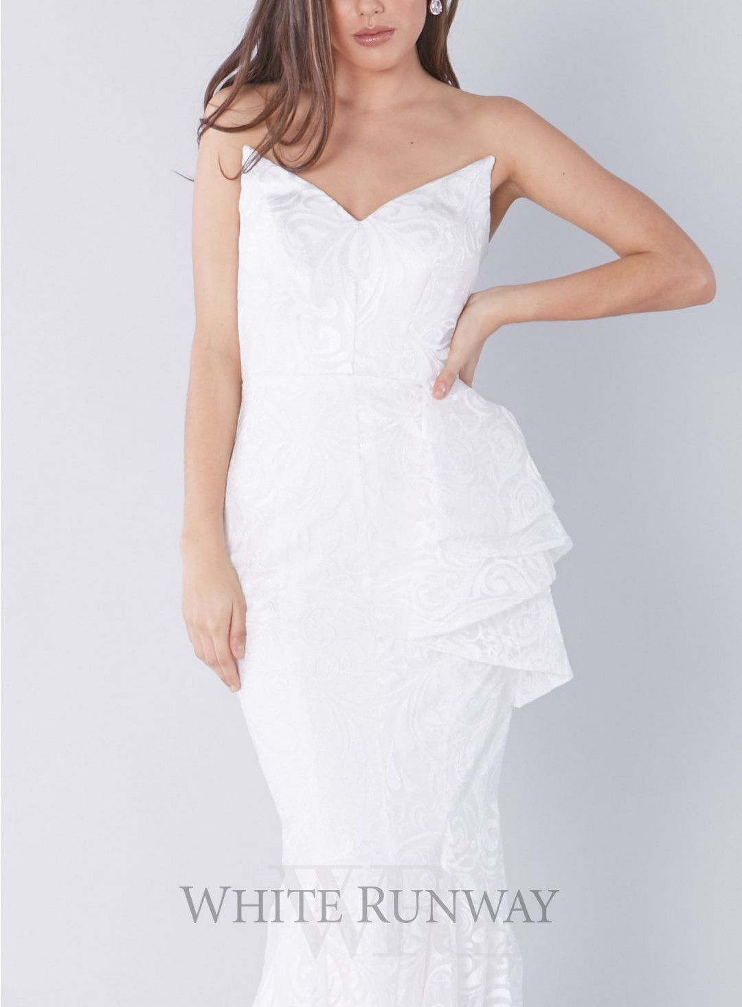 Charlize Gown A Gorgeous Bridal By Jadore Strapless Style Featuring An Edgy All White