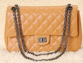 Silver Chain Handbags, Category: 2.55 Outlet Reissue, Color: Elephant Pattern Apricot Rifle