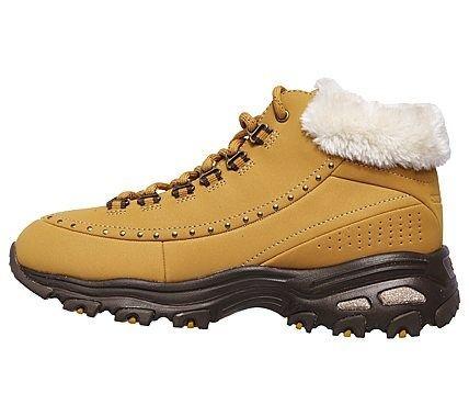 Skechers D'Lites Gleeful Memory Foam Lace Up Winter Boot