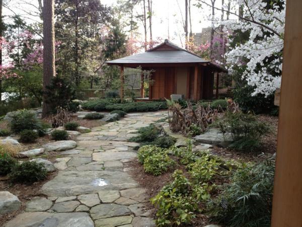 The tea house in the Japanese Pavilion  gardens.duke.edu