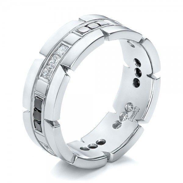 Custom Diamond Men S Wedding Band