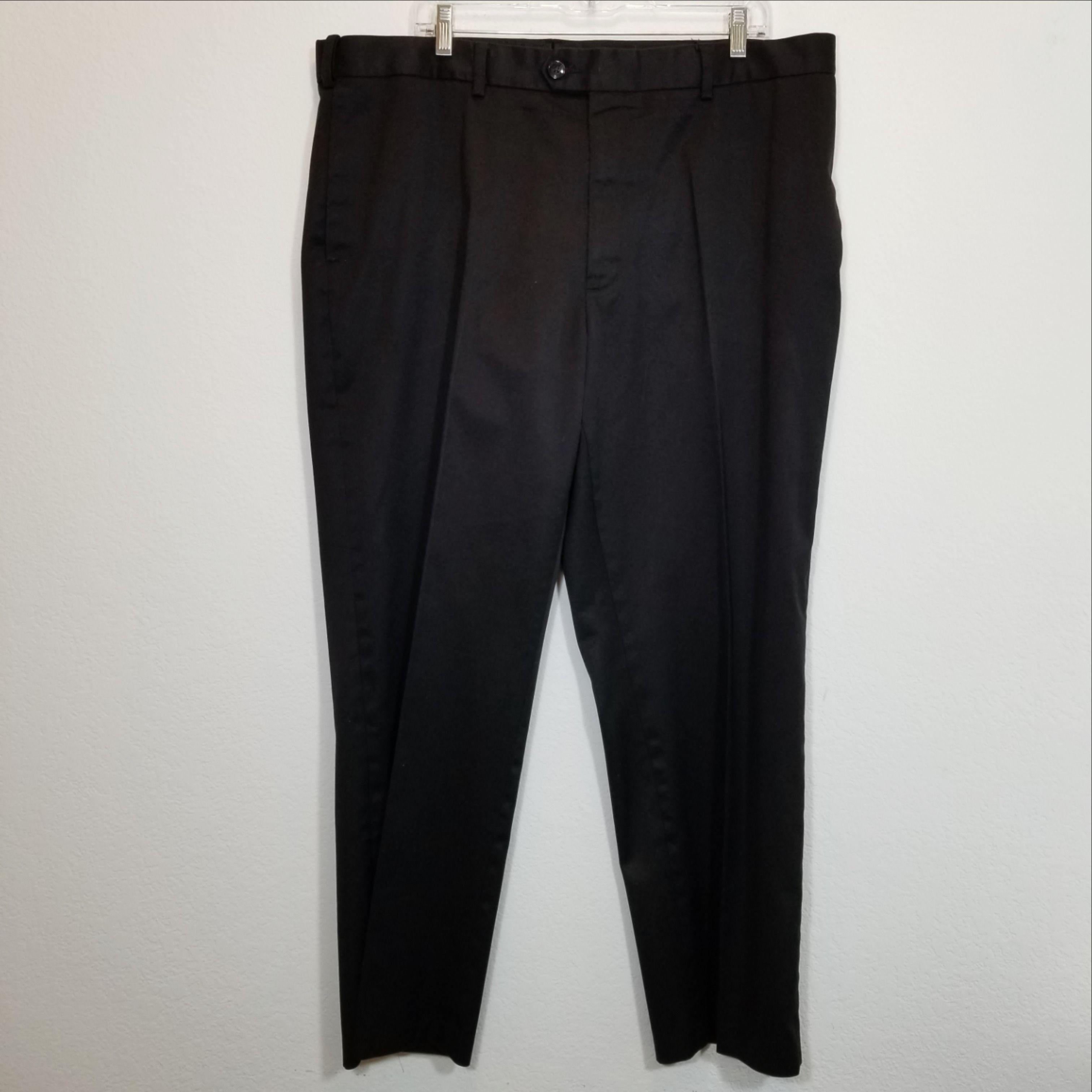 Perry Ellis Mens Black Dress Pants Tag 40x30 Actual Size 40x29 Black Dress Pants Men Black Dress Pants Dress Pants [ 3024 x 3024 Pixel ]