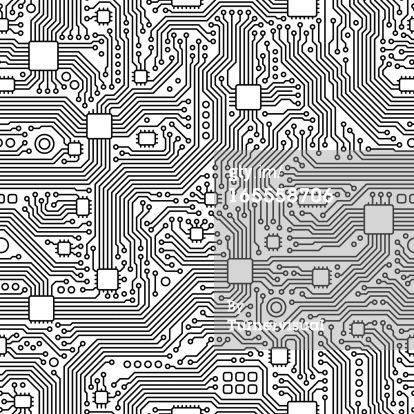Vector Art : Circuit Board Vector - Seamless Tile | Texture Surface ...